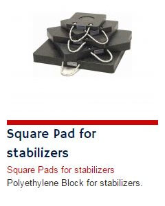 Square Pad for Stabilizers